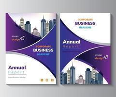 Annual Report Design Template,  Brochure,  Poster, Corporate  Flyer vector