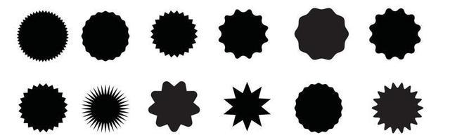 conjunto de starburst. etiqueta de venta, etiqueta de precio, marca de calidad. vector