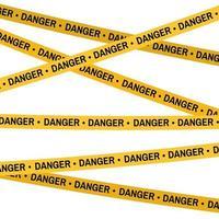 Crime scene yellow tape, police line Do Not Cross Danger tape. vector