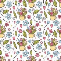 Wedding day. Cute Floral pattern in the small flower. Ditsy print vector