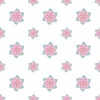 patrón de repetición perfecta dibujado a mano vector
