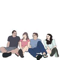 ilustraciones de personajes dibujados a mano vector