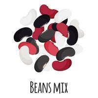 mezcla de frijoles para el diseño, la etiqueta y el embalaje del mercado de agricultores de plantilla. vector
