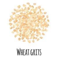 sémola de trigo para el diseño, la etiqueta y el embalaje del mercado del granjero de la plantilla. vector