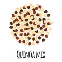 Mezcla de quinua para el diseño, la etiqueta y el embalaje del mercado de agricultores de plantilla. vector