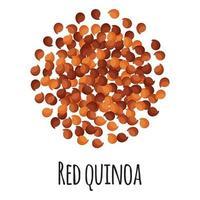 quinua roja para el diseño, la etiqueta y el embalaje del mercado del granjero de la plantilla. vector
