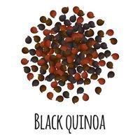 quinua negra para el diseño, la etiqueta y el embalaje del mercado del granjero de la plantilla. vector