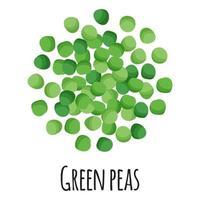 guisantes verdes para el diseño, la etiqueta y el embalaje del mercado del agricultor de la plantilla. vector