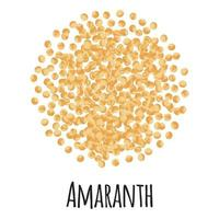 Amaranth for template farmer market design, label and packing. vector