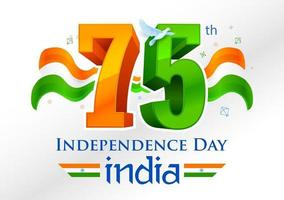 Tricolor  for 75th Independence Day of India on 15th August vector