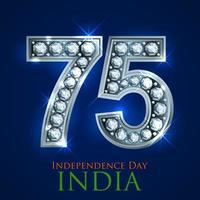 tricolor para el 75o día de la independencia de la india el 15 de agosto vector