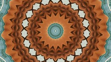 élément kaléidoscopique vibrant bronzage et bleu sarcelle video