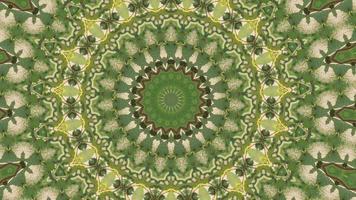 élément kaléidoscopique vibrant vert et jaune video