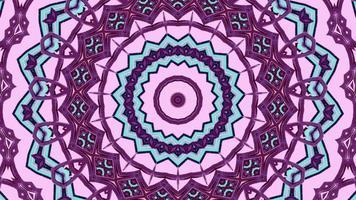 rose et violet saturés avec élément kaléidoscopique vibrant à garniture bleue video