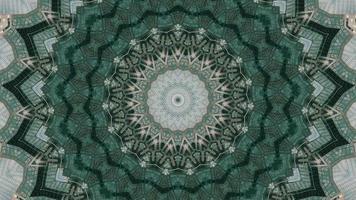 Élément kaléidoscopique vibrant vert forêt pâle video