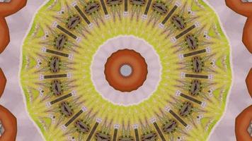Élément kaléidoscopique vibrant motif marron et jaune video