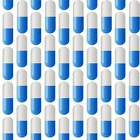 Medicine vector seamless pattern. Colorful tablets.