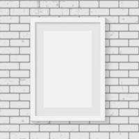 marco en la pared de ladrillo para su texto e imágenes vector
