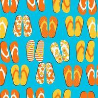 Beach Seamless Retro Grunge Background with Flip Flops vector