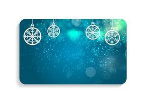 Ilustración de vector de tarjeta de Navidad y año nuevo de belleza abstracta.