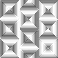 Black and White Hypnotic Background Seamless Pattern. vector