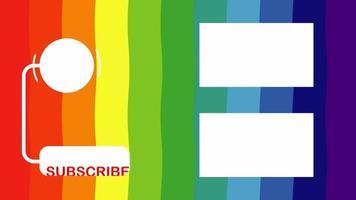 video de diseño de arco iris outro.