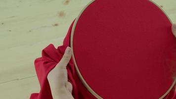 Embroidery framing by hand video