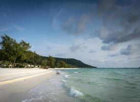 Long beach in tropical paradise Koh Rong island near Sihanoukville Cambodia photo