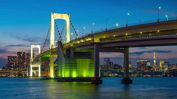 Cityscape of Tokyo skyline video