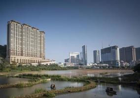 Cotai Strip Casino Resorts vista del horizonte de Taipa en Macao, China foto