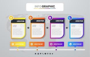 concepto de progreso infográfico vector