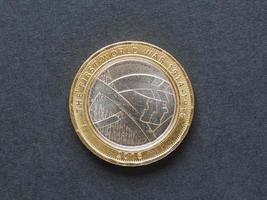 Moneda de 2 libras, reino unido foto