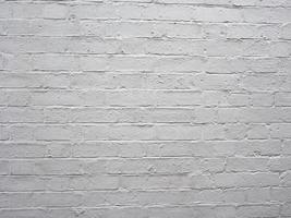 fondo de pared de ladrillo blanco foto