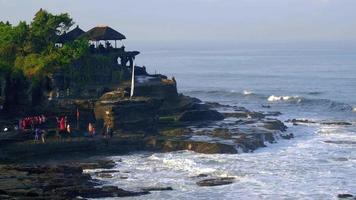 Sea wave crush rocks on a sea shore at Bali video