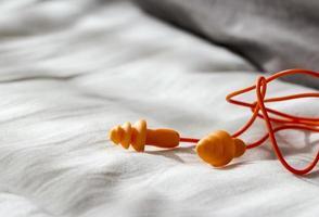 Earplugs on the bedroom photo