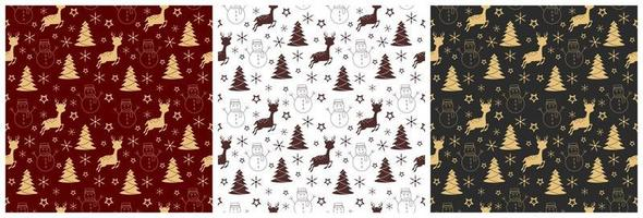 Christmas Background Seamless Pattern For Landing Page or Wallpaper vector
