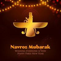 Happy Jamshedi Navroz festival background of Parsi vector