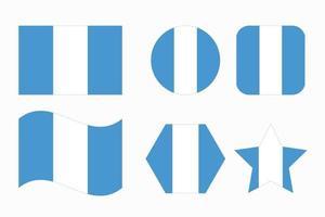 Ilustración simple de la bandera de Guatemala para el día de la independencia o las elecciones vector