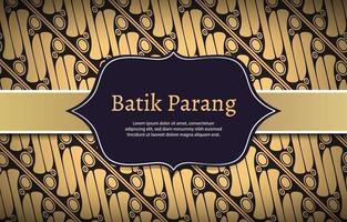 Batik Parang Background Vector
