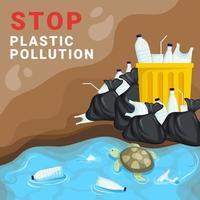 Stop Plastic Pollution vector