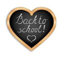 Blackboard Heart shape - Back to school vector