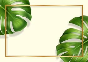 Exotic banner with monster realistic vector eps 10
