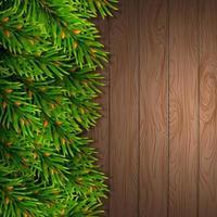 Christmas card mockup Fir tree border vector
