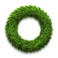 Spruce wreath. Mockup for decoration of Christmas greeting cards. vector