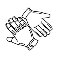 Mechanic Gloves Icon. Doodle Hand Drawn or Outline Icon Style vector