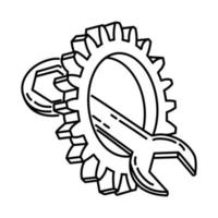 Repair Icon. Doodle Hand Drawn or Outline Icon Style vector