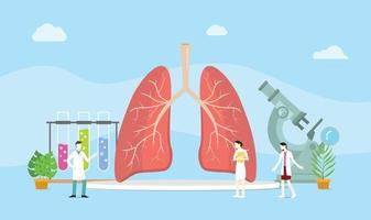 lungs healthy treatment concept mangement with team doctor discuss vector