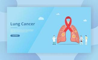 lungs cancer spot concept for website template page vector