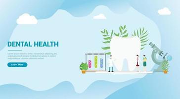 dental health concept with doctor for website landing vector