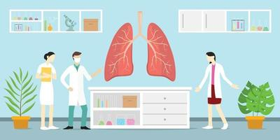 human lung or lungs anatomy science analysis health on laboratory vector